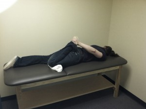 Prone Quadriceps Stretch